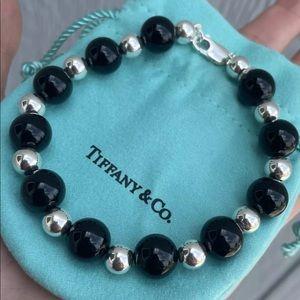🥰Auth Tiffany & Co Silver & Black Onyx Bracelet